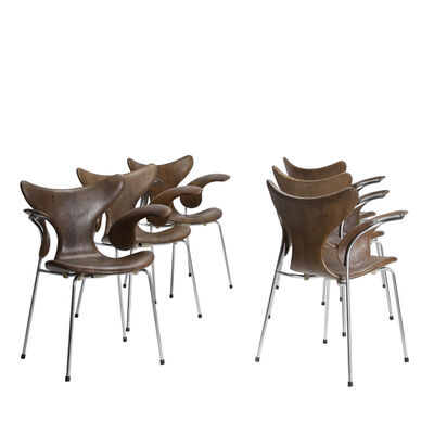 Arne Jacobsen, 'Set of six Seagull chairs', 1970