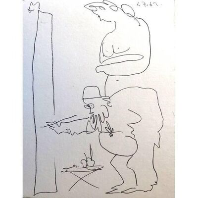"Pablo Picasso, 'Original Lithograph ""The Painter and his Model I"" by Pablo Picasso', 1962"