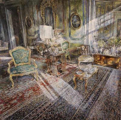Raffaele Minotto, 'Interno con poltrona verde', 2020