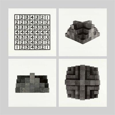 Mel Bochner, '3 Photographs + 1 Diagram (Row C)'