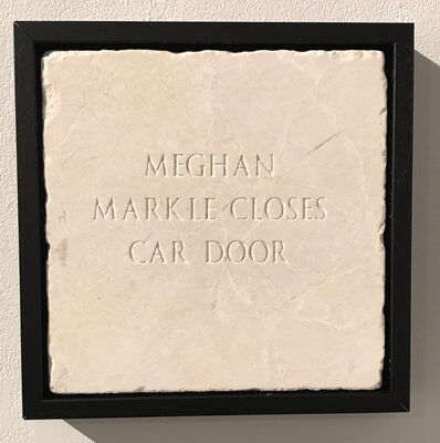 Sarah Maple, 'Meghan Markle Closes Car Door', 2018