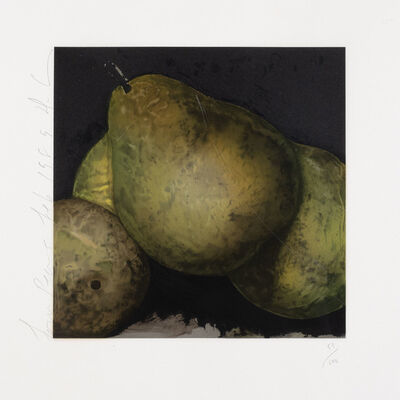 Donald Sultan, 'Four Pears', 1989