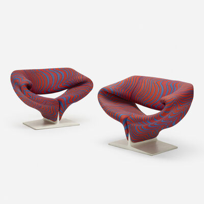 Pierre Paulin, 'Ribbon chairs, pair', 1965
