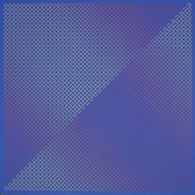 Julian Stanczak, 'Centered Duality Blue II', 1981-82