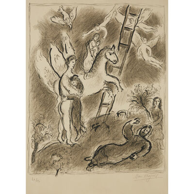 Marc Chagall, 'Biblical Scene (Jacob)', 1971