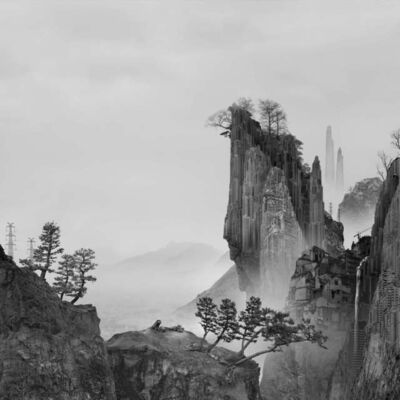 Yang Yongliang 杨泳梁, 'Time Immemorial-The Cliff', 2016