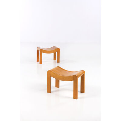 Pierre Chareau, 'Pair of stools', near 1923