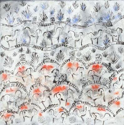 Carlos Vivar, 'Hacienda de agaves y caballos', 2014