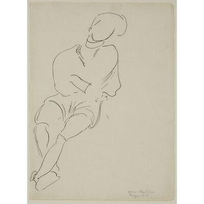 Henri Matisse, 'Marocain Assis, Les Bras Croisés', 1913