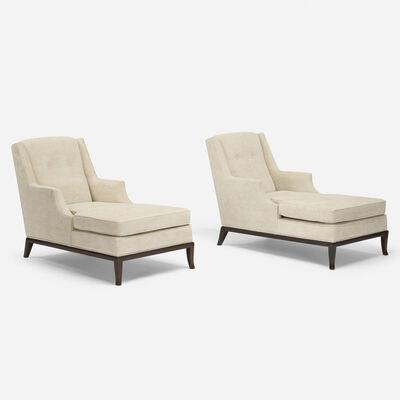 T.H. Robsjohn-Gibbings, 'Chaise lounges, pair', 1950