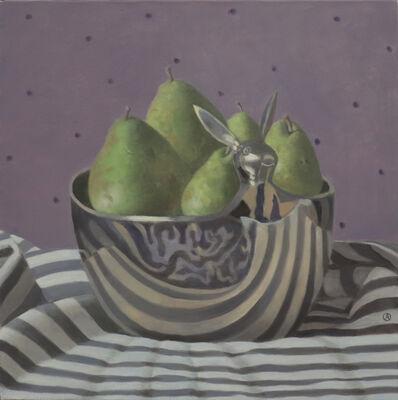Olga Antonova, 'Pears in Bowl with Bunny', 2021