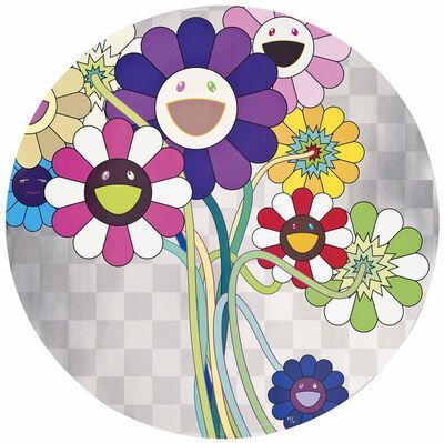 Takashi Murakami, ' Purple Flowers in a Bouquet', 2010