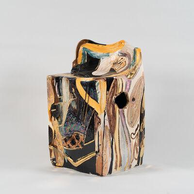 Reinaldo Sanguino, 'Metallic Square Ceramic Chair 12', 2018