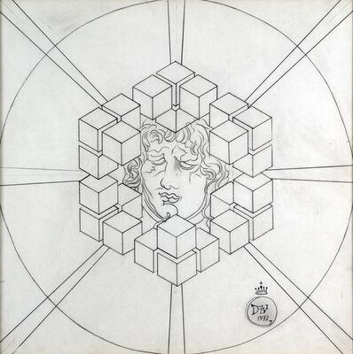 Salvador Dalí, 'Mascaron dans Des Cubes', 1972