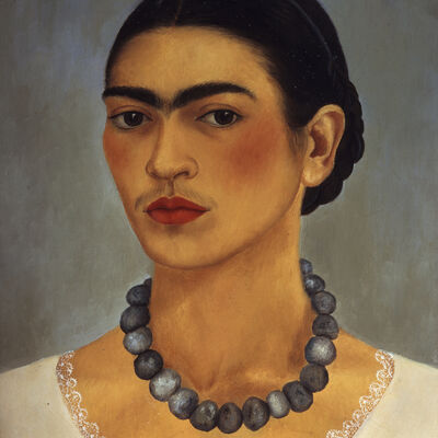 Frida Kahlo, 'Self-portrait with necklace', 1933