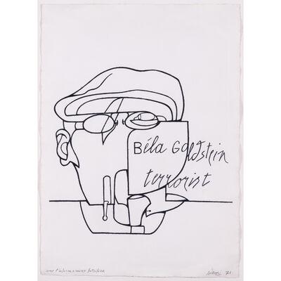 Valerio Adami, 'Come l'informazione falsifica, Béla Goldstein terrorist', 1971