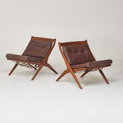 Dux, 'Pair of scissor lounge chairs', 1950s/60s