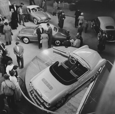 Jesse Alexander, 'Paris Auto Show - BMW stand', ca. 1961