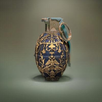 David Krovblit, 'Faberge Grenade (blue)', 2020