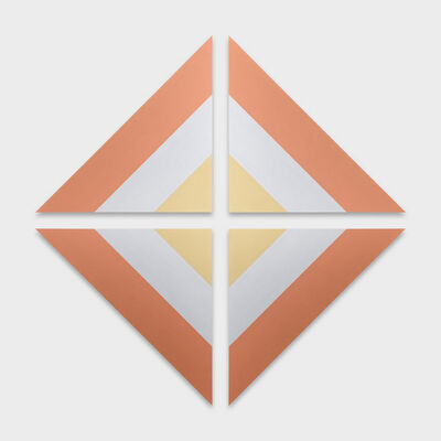 Claudia Comte, 'Gold, Silver and Copper (Triangular Painting)', 2017