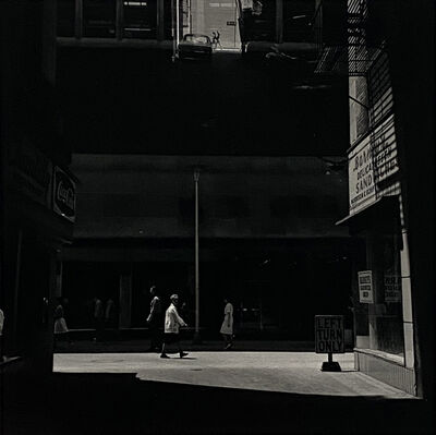 Harry Callahan, 'Street Scene, with Left Turn Only Sign', 1950-1960