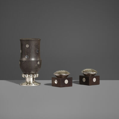 William Spratling, 'Salt and Pepper Shakers, Pair and Cup', c. 1965