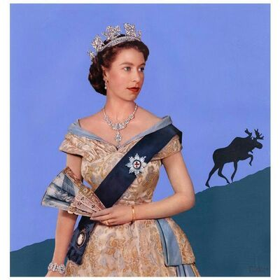 Charles Pachter, 'The Queen and the Moose', 1973