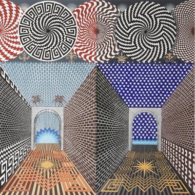 Pedro Friedeberg, 'Encuetro de dos Mundos', 1987