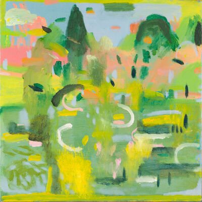 Katie Sollohub, 'Sheffield Park Pink, Green, Yellow', 2015