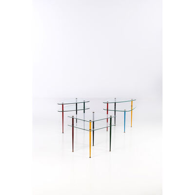 Edoardo Paoli, 'Arlecchino - Set of three side tables', circa 1960
