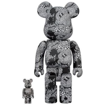 BE@RBRICK, 'KEITH HARING Mickey Mouse 400% + 100%', 2020