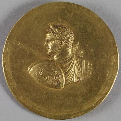'Medallion with Roman Emperor Caracalla', ca. 215-243