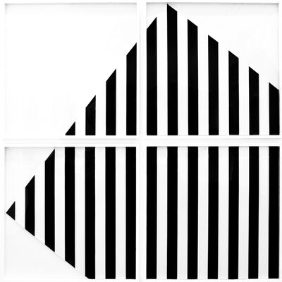 Daniel Buren, 'The Rotating Square - In and Out of the Frame (4 Panels)', 1989