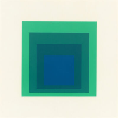 Josef Albers, 'Homage to the Square: Edition Keller Ia', 1970