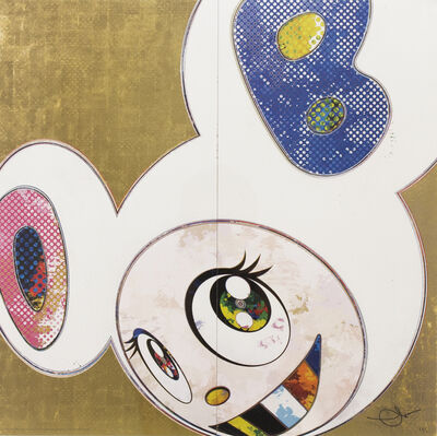 Takashi Murakami, 'DOB in Pure White Robe (Pink and Blue)', 2013