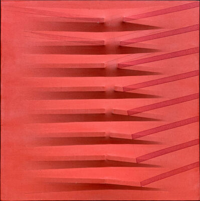 Agostino Bonalumi, 'Rosso', 1983