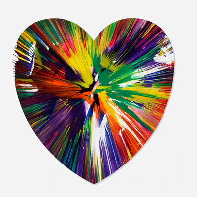 After Damien Hirst, 'Heart Spin Painting', 2009