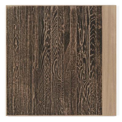 Analia Saban, 'Wooden Floor on Wood (Vertical)', 2017