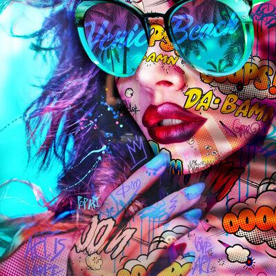 """Monika Nowak, '""""Venice Beach2"""" - Pop art, pop culture, feminism, woman power, woman empowerment', 2020"""