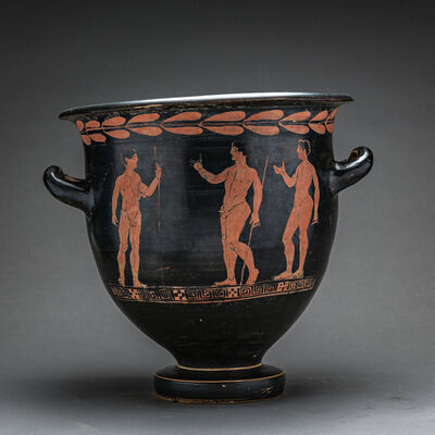 Unknown Greek, 'Apulian Red-Figure Bell Krater', 400 BC to 300 BC
