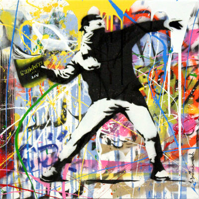 Mr. Brainwash, 'Banksy Thrower (18)', 2015