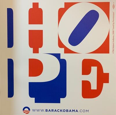 "Robert Indiana, 'Barack Obama Hope 2008 Robert Indiana Official Campaign Print ""Red Edition""', 2008"