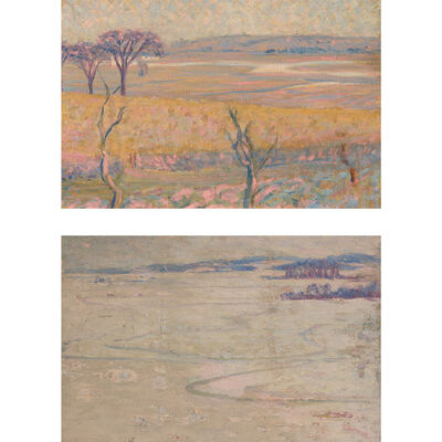 Thomas Buford Meteyard, 'Two Artworks: Scituate: The Marshes Under Snow; North River, Scituate'