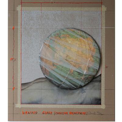 Christo, 'Wrapped Globe (Eurasian Hemisphere)', 2019