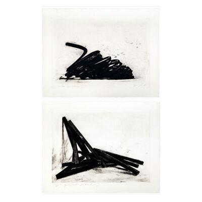 Bernar Venet, 'Effondrement (Portfolio of 2)', 2014