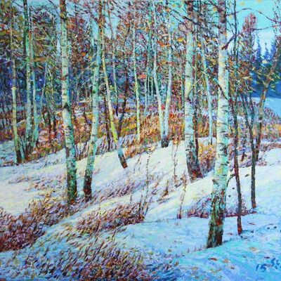 Shi Le, 'Baton Trail - Winter #3'