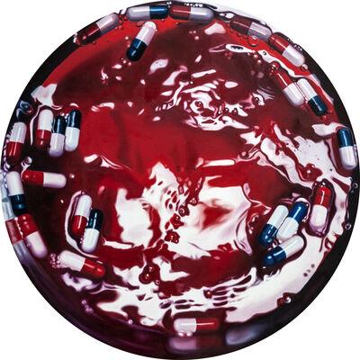 Philippe Huart, 'Rouge Ardent Vertige (Vortex 28)', 2020