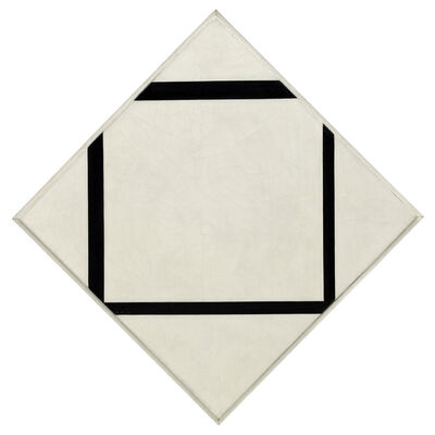 Piet Mondrian, 'Composition No. 1: Lozenge with Four Lines,', 1930