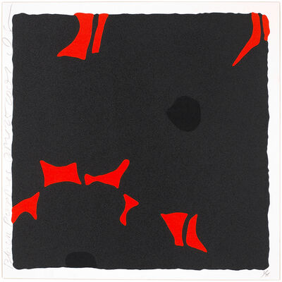 Donald Sultan, 'Black Poppies', 2007