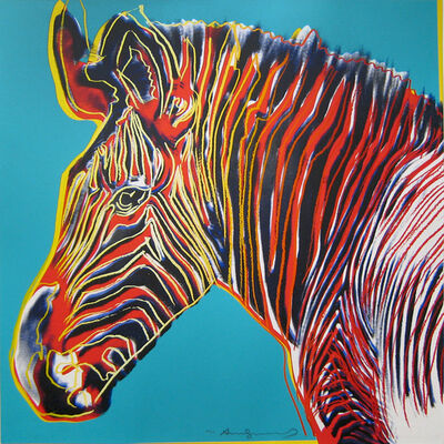 Andy Warhol, 'Grevy's Zebra, from the Endangered Species Portfolio', 1983